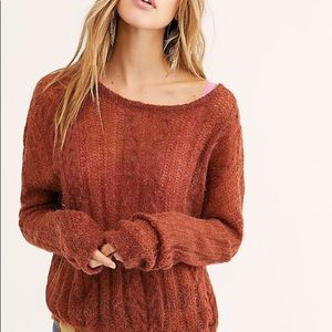 Free People Angel Soft Pullover loose knit…